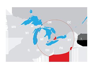 Hamilton Halton Brant - Regional Map