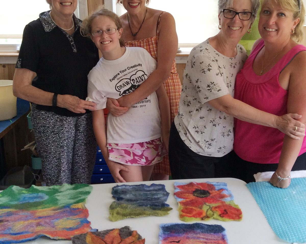 Learn how to felt a tapestry workshop