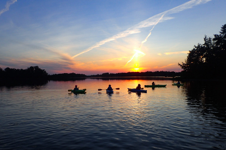 Sunset Guided Paddles on Binbrook CA's Lake Niapenco