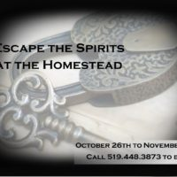 Escape the Spirits at the Homestead!